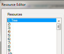 Resource Editor Design Complete